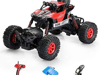 SainSmart Jr  1  16 RC Rock Crawler 4WD large Size Remote Control Off Road Car with Two Rechargeable Batteries for Kids  4x4 Waterproof Monster Truck 2 4Ghz