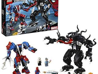 lEGO Super Heroes Marvel Spider Mech Vs  Venom 76115 Action Toy Building Kit with Web Shooter and Gripping Toy Claw Includes Spider Man Minifigures Venom and Ghost Spider  604 Pieces