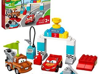 lEGO DUPlO Disney and Pixar Cars lightning McQueens Race Day 10924 Toddler Toy with lightning McQueen and Mater  Great Gift for Kids Who love Race Car Toys and Tow Trucks  New 2020  42 Pieces