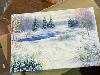 winter time print on canvas 8a x 12a art international