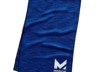 Mission HydroActive Premium Techknit large Towel   Blue Spacedye