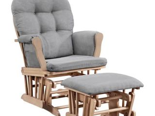 Griffin Glider and Ottoman Grey Natural RETAIl  170 AS IS