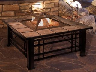 Pure Garden Wood Burning Pit  Steel  log Poker and Spark Screen