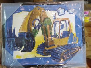 Backhoe Wall Painting