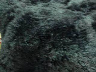 Black Faux Fur Rug