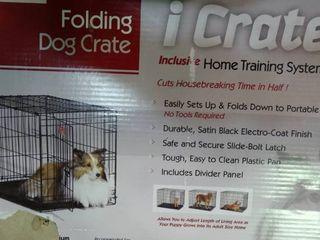 30 x19 x21  Metal Folding Dog Crate