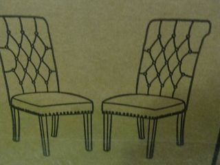 Pair of Beige Dining Room Chairs