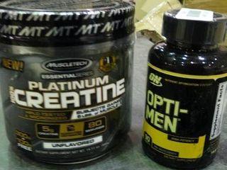 MuscleTech Essential Platinum Creatine and Opti Men Supplement