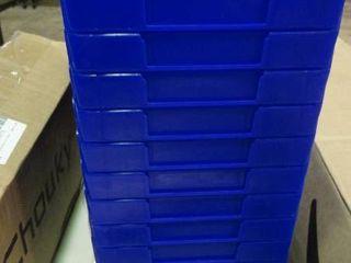 lot of Blue Organizer Bins