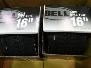 Pair of 16  Bell Kids Bike Tires