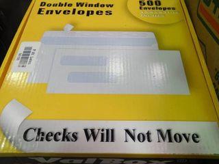 Box of Double Window Envelopes