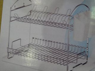 2 Tier Dish Rack with Drainboard