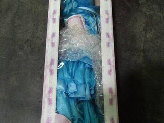 large Porcelain Doll in Blue Dress