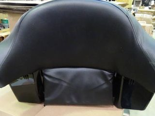 Motorcycle Back Rest with luggage Compartment