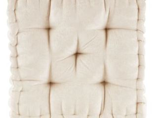 Intelligent Designs Charvi Poly Chenille Square Floor Pillow Cushion  Pack Of 2