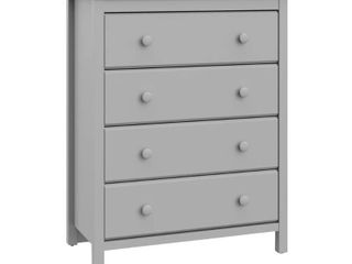 Storkcraft Alpine 4 Drawer Dresser Chest Pebble Gray