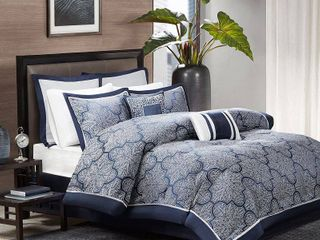 Home Essence Ryland 8 Piece Jacquard King Comforter Set