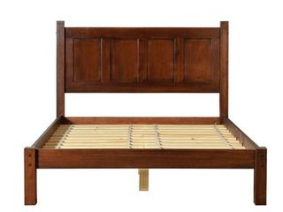 Grain Wood Furniture Shaker Solid Wood Full size Panel Platform Bed  Retail 389 99