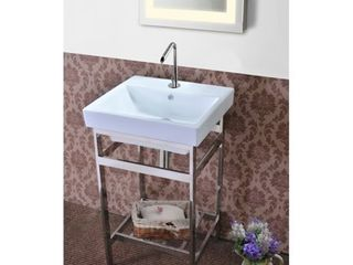 New South Beach Stainless Steel Open Console Vanity  Retail 923 99