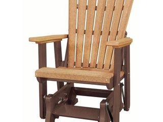 OS Home FanBack Glider Made in the USA  Cedar  Tudor Brown  Retail 465 49