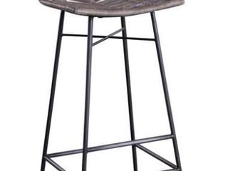Home Trends And Design Grey White Wash Stools  Set of 2  Retail 159 49