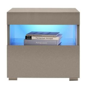 Strick   Bolton Cyrena High gloss Nightstand with lED lights  Retail 172 49