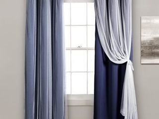 lush DAccor Grommet Sheer Curtain Panels with Insulated Blackout lining