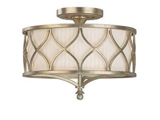 Fifth Avenue 3 light Winter Gold Semi Flush Mount  Retail 371 99