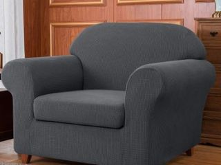 Subrtex Stretch Armchair Slipcover 2 Piece