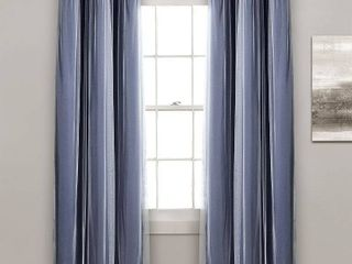 lush DAccor Grommet Sheer Curtain Panel Pair with Insulated Blackout lining