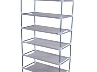 Simple Shoe Rack Grey