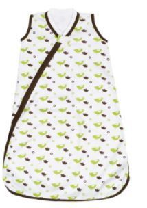 JJ Cole Wearable Blanket  Green Birds  0 6 Months