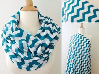 J You Nursing Scarf  Blue And White