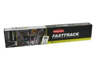 Rubbermaid Fasttrack Garage 6 Piece Satin Nickel Steel Storage Rail System