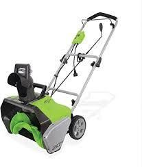 greeworks 20in electric snow thrower 120volt 13amp
