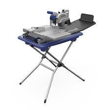 Kobalt 7 in 1 6 Wet Tabletop Sliding Table Tile Saw With Stand Kws S72 06