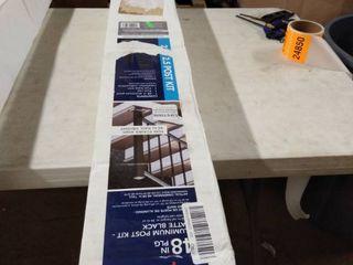 decorators Matte Black Aluminum Post Kit 2 5 X 2 5 X 48