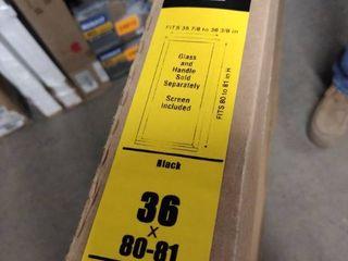 pella screen door black 36x80