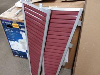 aluminum canopy sidewing set of 2 burgundy