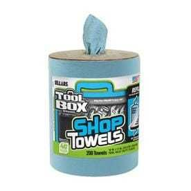 Toolbox Z400 Big Grip Refill Blue Shop Towels  10 In  X 12 In  Blue  200 Sheets Per Roll  6 Rolls Per Case