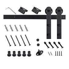 rb interior barn door hardware kit matte black finish