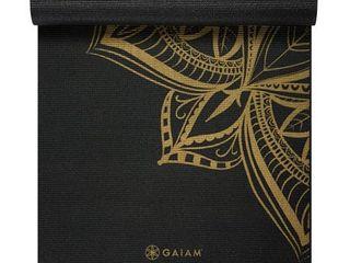 Gaiam Metallic Yoga Mat  Bronze Medallion  6mm