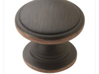 Allison Value 1 1 4 in  32 mm  Oil Rubbed Bronze Cabinet Knob   25 Pack