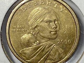 2000 D Sacagawea Native American Dollar US Mint Coin