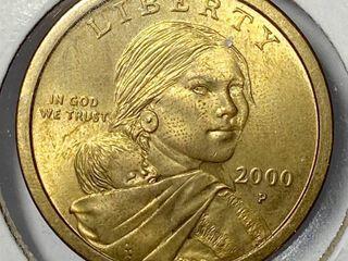2000 P Sacagawea Native American Dollar US Mint Coin