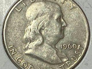 1960 D Ben Franklin Silver Half Dollar