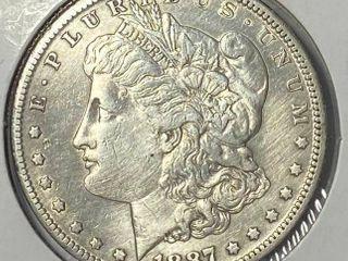1887 S  1 Morgan Silver Dollar