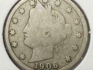 1906 liberty Head V Nickel
