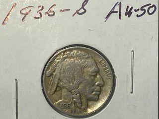 1936 S Buffalo Nickel