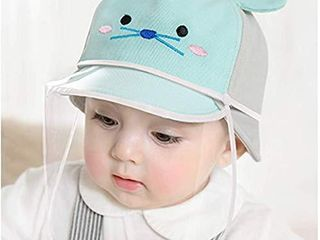 Two Style Design Baby Mouse Kids Sun Full Face Hat Removable Windproof Dustproof Cap for Outdoor 18 9 19 7   fit 1 to 2 years old Blue